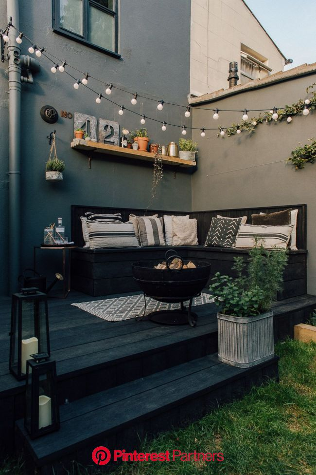 Decking for your outside living space   design inspiration for small gardens   Outdoor living space design, Back garden design, Small patio garden