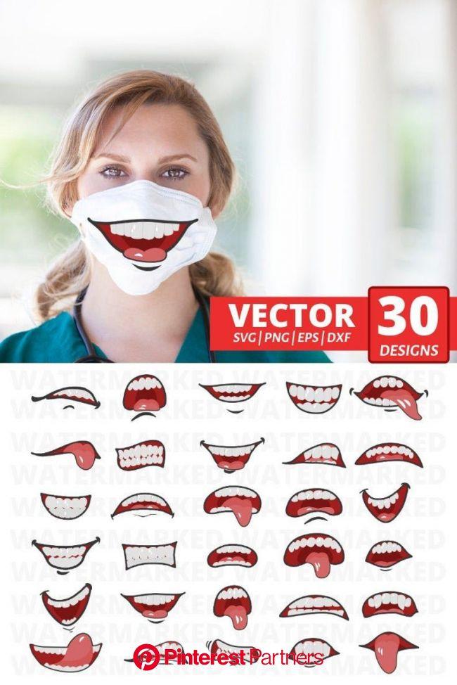 30 MOUTHS FACE MASK Svg Patterns Face Mask Pattern Bundle | Etsy in 2021 | Funny mouth, Diy face, Diy mask