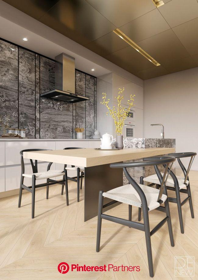 Two Apartments With Texture: One Soft, One Sleek | Modern kitchen design, Kitchen interior, Modern kitchen