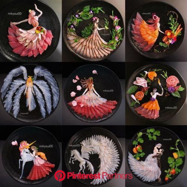 Japanese Dad Makes Breathtaking Sashimi Art for His Family to Teach His Kids to Appreciate Food | Japanese food art, Sashimi art, Food art