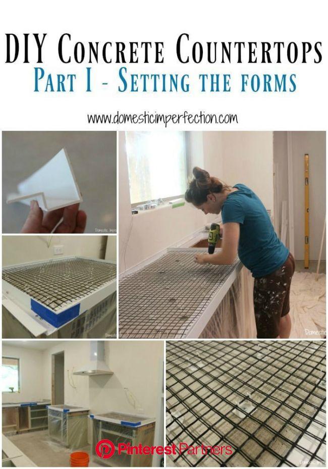 DIY Concrete Countertops, Part I- Setting the Forms | Concrete diy, Diy concrete countertops, Kitchen remodel countertops