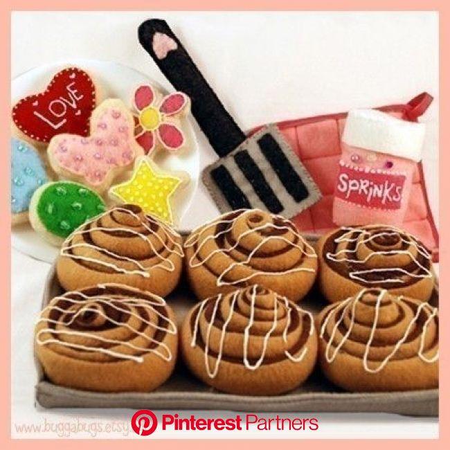 BAKERY SWEETS  PDF Felt Food Pattern Cinnamon Rolls Sugar | Etsy | Felt food pattern, Felt food patterns, Food patterns