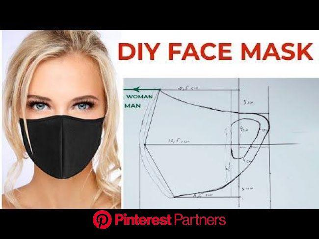 DIY FACE MASK | design pattern | 2 min. How do you make a face mask? - YouTube | Face mask design ideas, Diy face mask, Easy face mask diy
