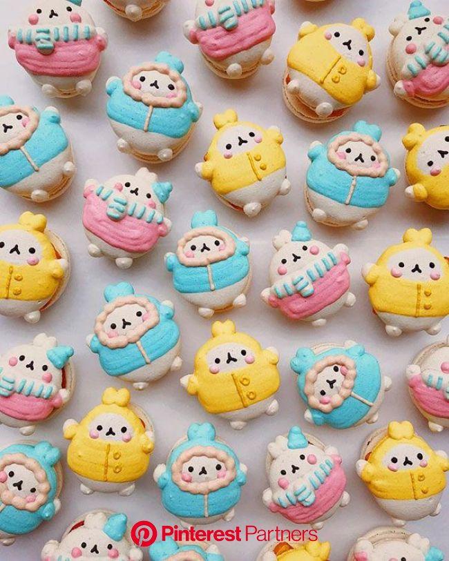 Honey & Butter Kawaii Macarons | Kawaii dessert, Kawaii food, Cute desserts