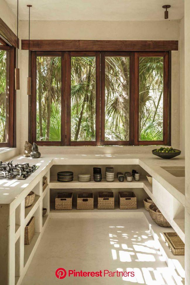 Bancadas de Cimento | Casa de Valentina | Cozinhas de alvenaria, Interiores de casas, Cozinha minimalista