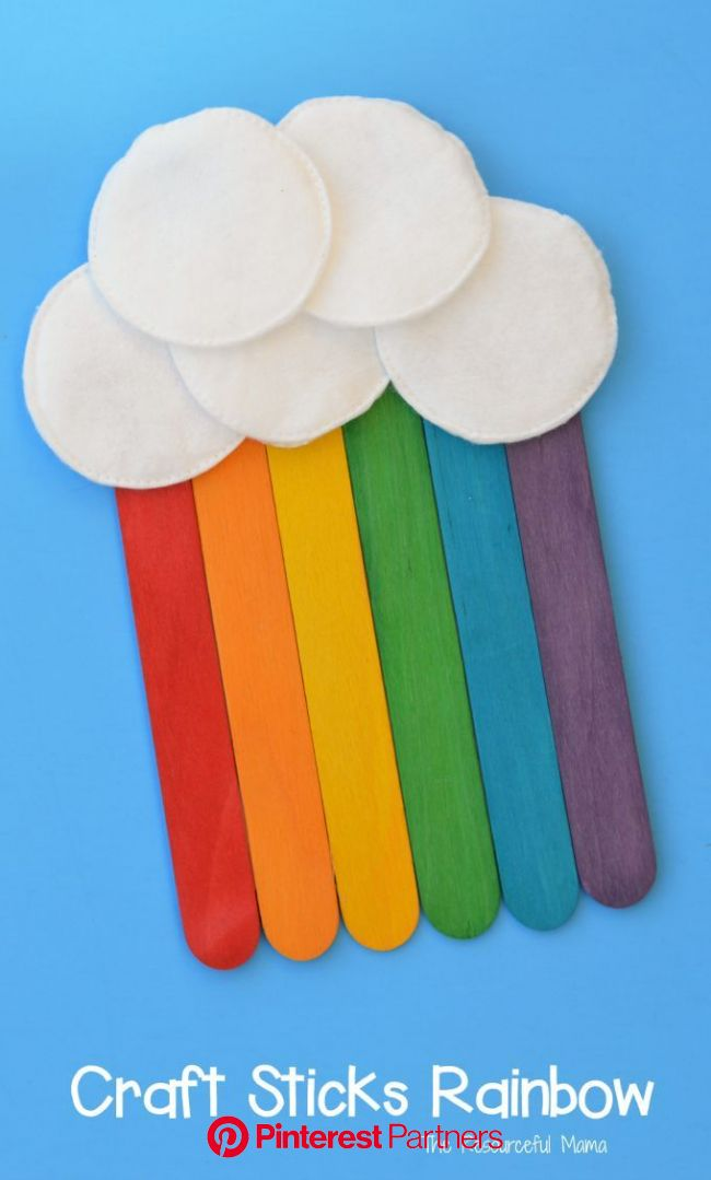 Craft Sticks Rainbow Craft | St patricks day crafts for kids, Rainbow crafts, Craft stick crafts