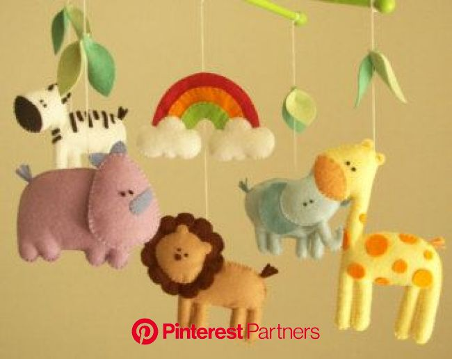 Baby mobiles safari baby mobiles baby animals mobiles | Etsy in 2020 | Safari baby mobile, Felt mobile, Baby mobile