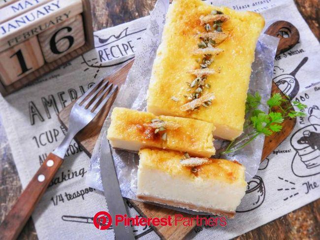 焼くまで5分!200円以下でできるクリチなしの絶品チーズケーキ | カフェフード, レシピ, 食品と飲料