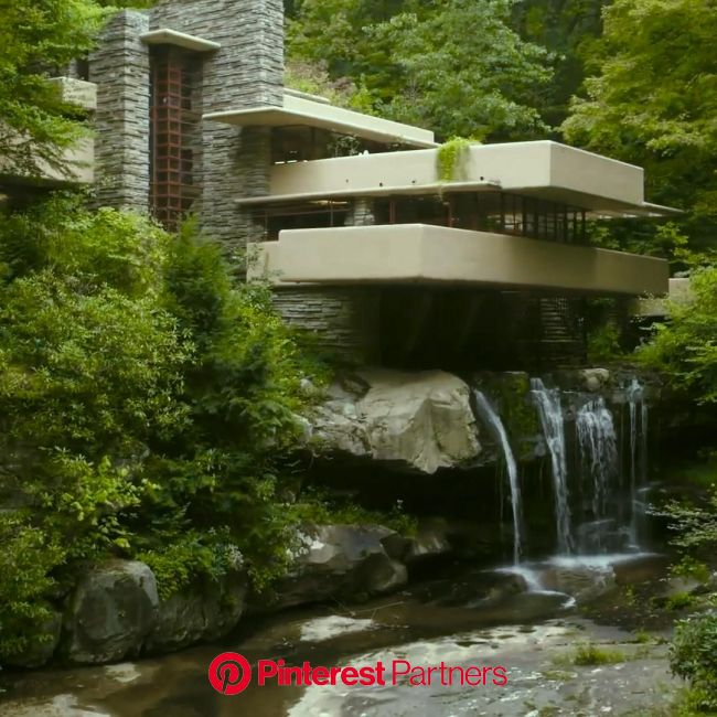 The Fallingwater House [Video] in 2020 | Frank loyd wright houses, Sustainable architecture house, Falling water house