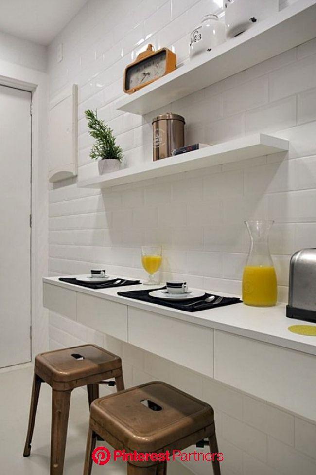 20 ideias para criar espaço de refeição na cozinha pequena (com imagens) | Decoração cozinha pequena, Cozinha pequena, Decoração cozinha