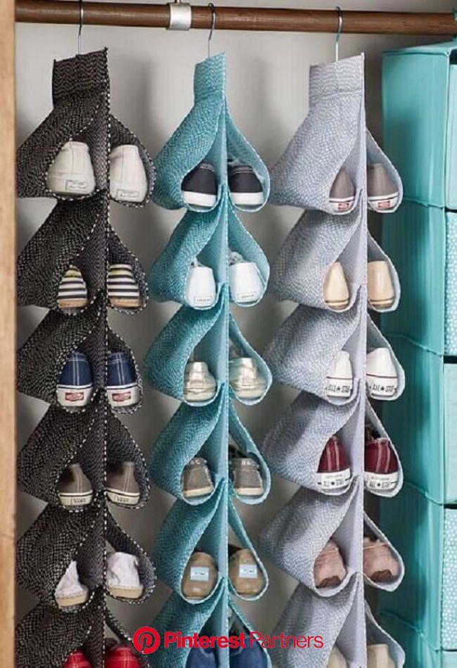 Como Organizar Sapatos: Veja Nossas Dicas + 40 Modelos | Organizar sapatos, Cabide para sapatos, Diy para a casa