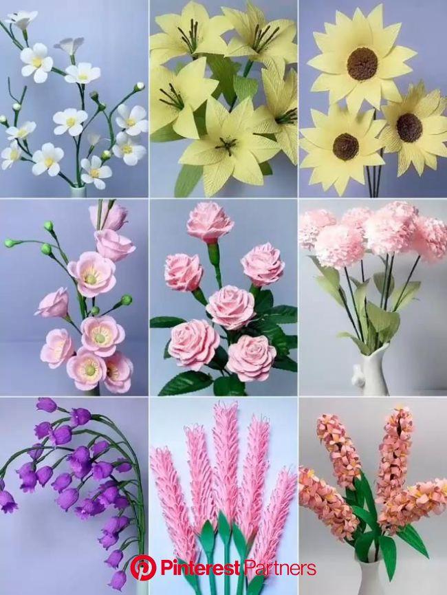 Easy DIY Paper Flowers Craft [Video]   Paper flowers, Paper flowers craft, Handmade flowers paper