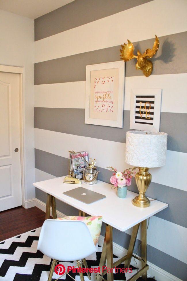 Fresh Office Makeover | Decoração de parede, Decoração de casa, Decoração de quarto