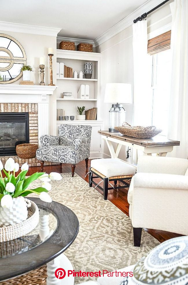 SPRING FAMILY ROOM | French country living room, Country living room, Home decor styles