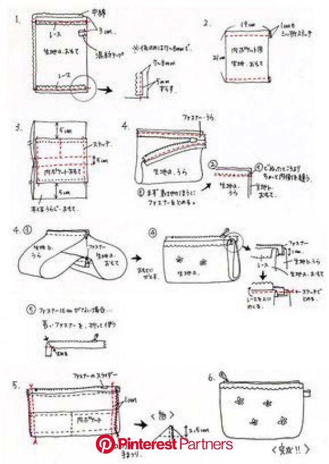 手作り雑貨の作り方 | スタジオクリップ > ポーチの作り方 | ポーチ 作り方, ソーイング, 型紙