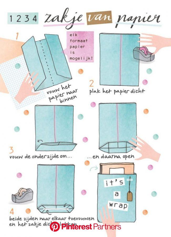 Snel inpakken: papieren cadeauzakken | Cadeauzakken, Verpakking knutselen, Diy cadeau inpakken