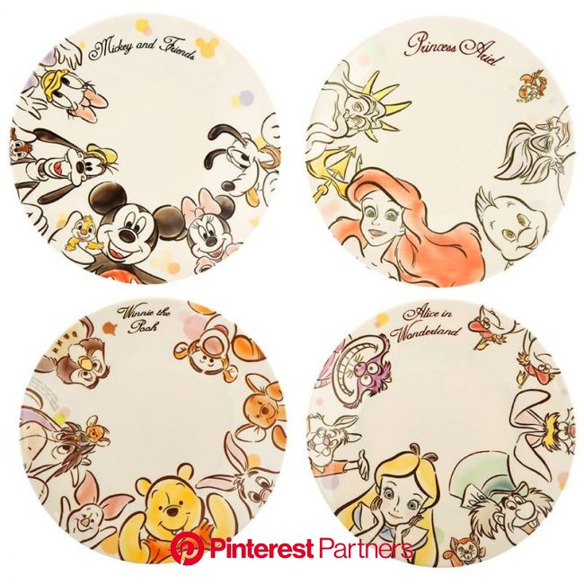 Introducing Disney's Hi! Disney Characters plate. Official Disney Character Goods Store. Fashion, merchandise, toys, stationary and many… | かわいい イラスト