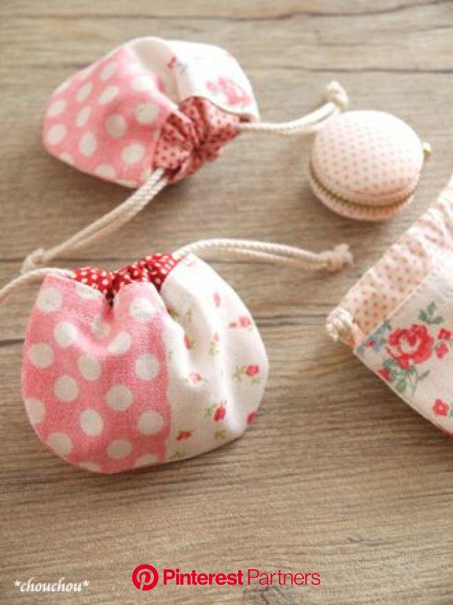 YUWA 春色petit dot - *chouchou*   手作り 巾着, ハンドバッグの型紙, 小物入れ 手作り
