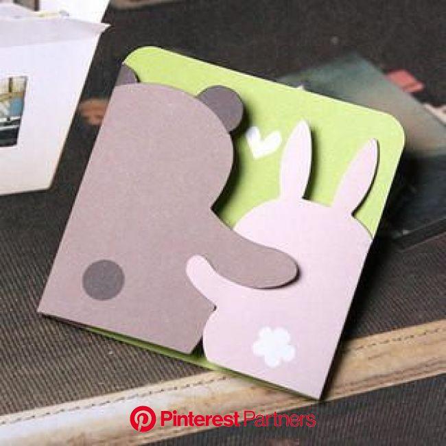 Bear and Bunny Printable Greeting Card(画像あり) | バースデーカード, 手作りグリーティングカード, 3d カード