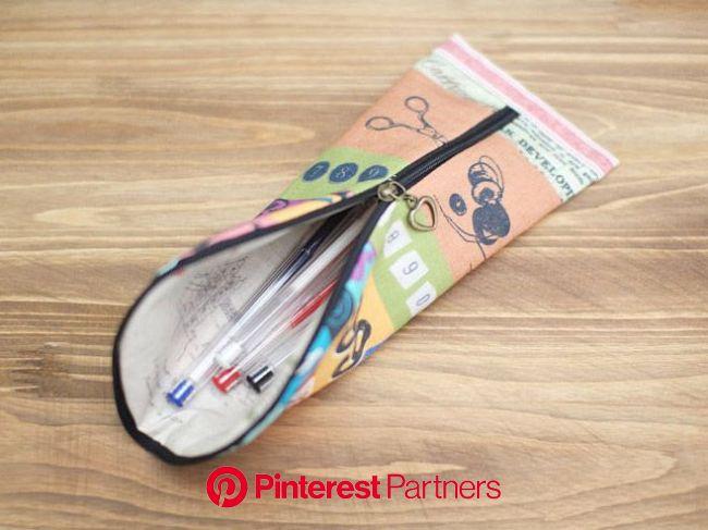 Pencil Pouch Tutorial | Diy pencil case, Pouch tutorial, Zipper pouch tutorial