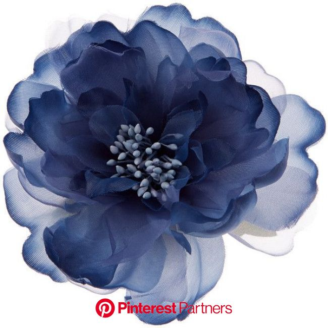 Accessorize Blue Peony Hair Corsage ($14) ❤ liked on Polyvore featuring accessories, hair accessories and … | Fabric flowers, Blue flowers, Holiday ha
