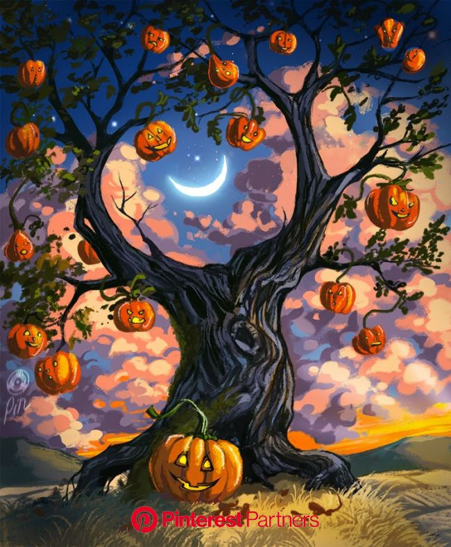 Halloween Tree | Halloween artwork, Halloween images, Halloween illustration