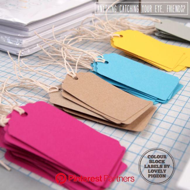 Colorful gift tags by Lovely Pigeon | Embalagens de produtos, Etiquetas feitas à mão, Tags ideias