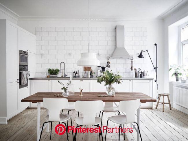 11 cozinhas no estilo escandinavo que a gente adoraria ter (com imagens) | Interior de cozinha, Estilo de cozinha, Projeto da sala de jantar