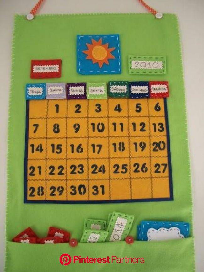 Calendário Interativo Simples no Elo7 | ArtesaNÁ Presentes (D1842) | Calendário para crianças, Calendários infantis, Chamadinha educação infantil