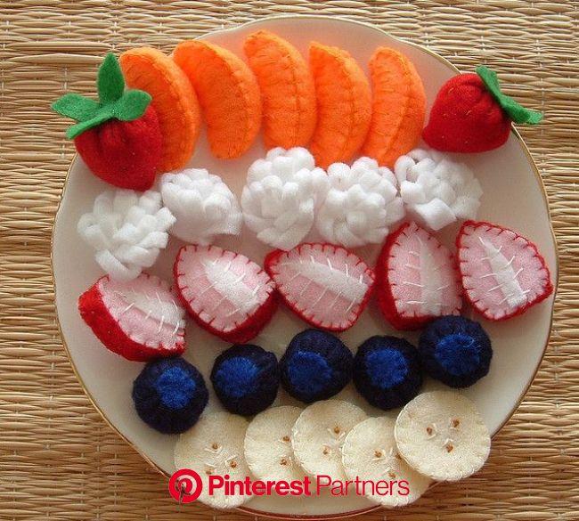 A Selection Of Felt Fruit | Felt food, Felt fruit, Felt food patterns