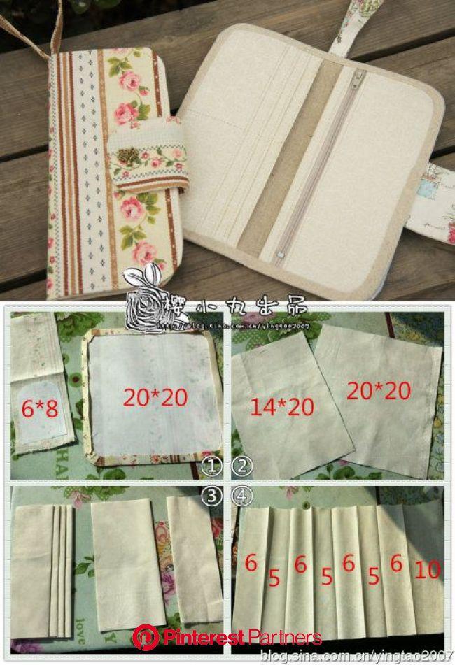 原创无包边长版钱包教程_--樱小丸--_新浪博客 | Diy wallet, Wallet sewing pattern, Sew wallet