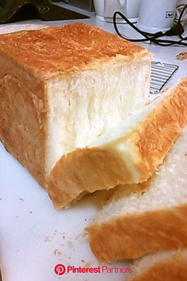 Moving moist moist moist cream square horn   レシピ, ホームベーカリー レシピ, 手作りパンレシピ