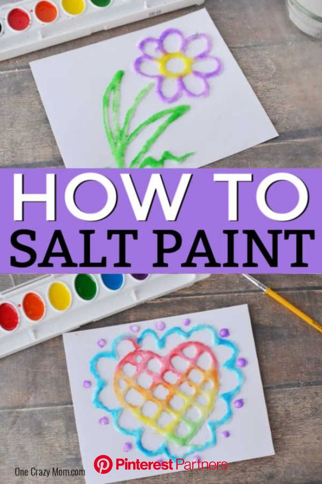 Salt Painting - Learn how to make Salt Art with your kids!   Arts and crafts for kids, Crafts, Salt art