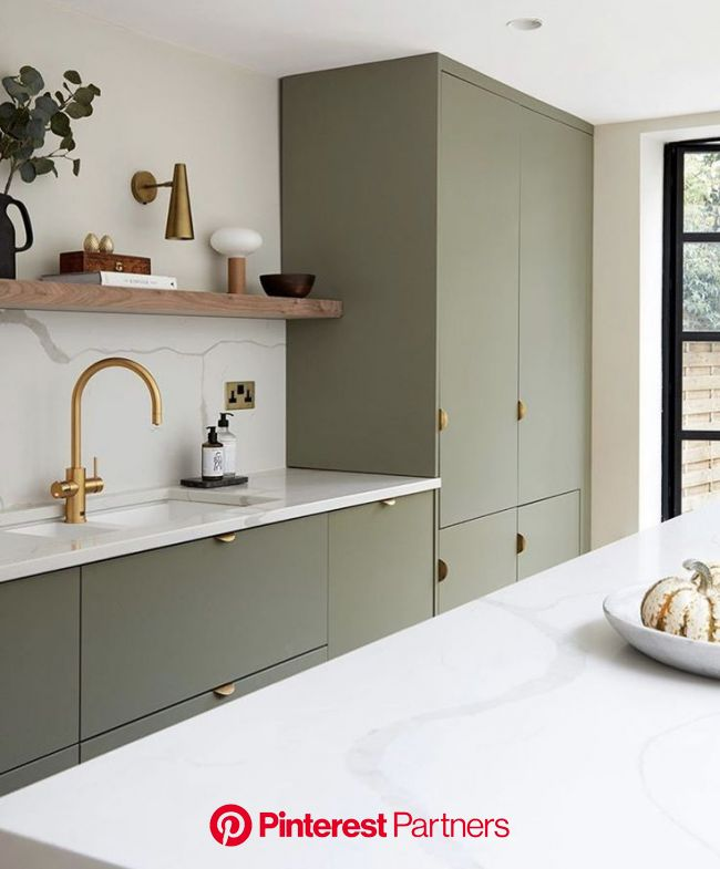 7 Gorgeous Green Kitchens to Change Your Luck All Year Long - Studio Dearborn | Interior Design in 2020 | Home decor kitchen, Interior design kitchen,