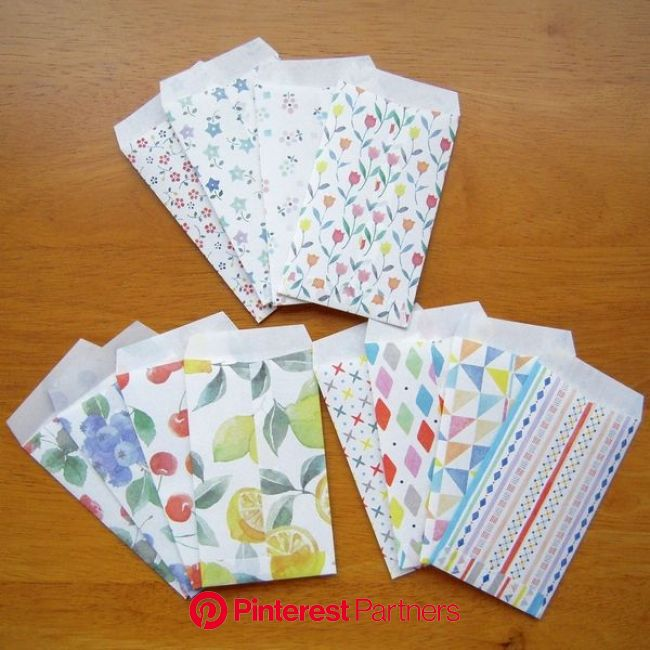 ラッピングにもおすすめ、ダイソーの和紙ちよがみで「ポチ袋」作り! | 折り紙 可愛い, デザイン アイデア