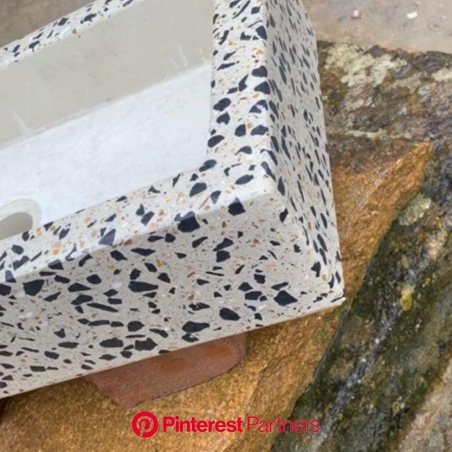 Terrazzo concrete sink [Video] | Concrete sink, Concrete design, Terrazzo