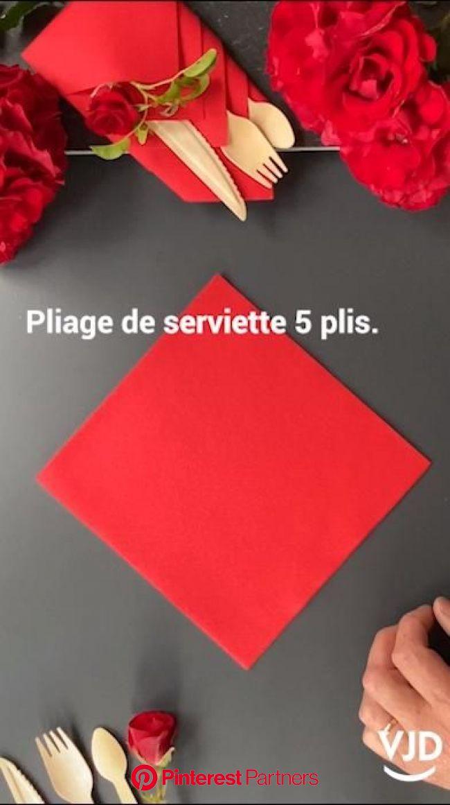 Tuto de pliage de serviette. [Vidéo] en 2020 | Pliage serviette, Serviettes, Modèle de fleur en papier
