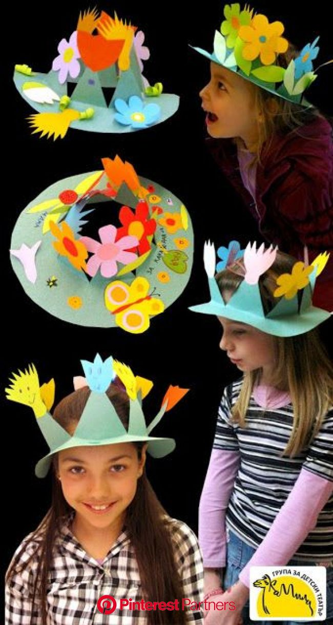 English is FUNtastic: Easy Easter Bonnets | Crown crafts, Spring crafts, Art for kids