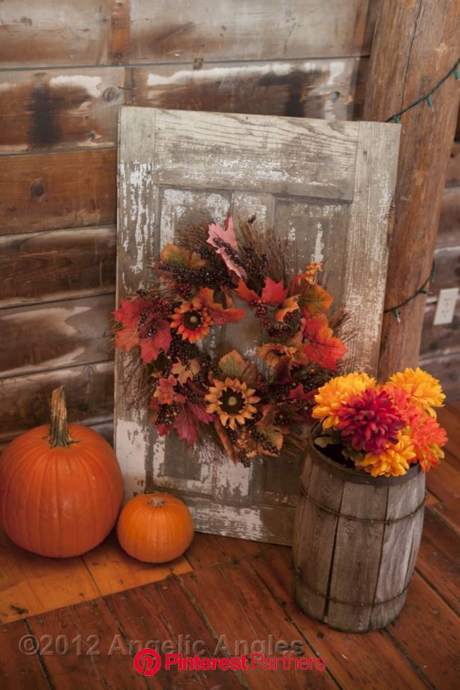 corner or stage docor (daisies and mums/gerbera) possibly paint pumpkins or remove them in 2020 | Primitive fall decorating, Fall decor, Fall diy