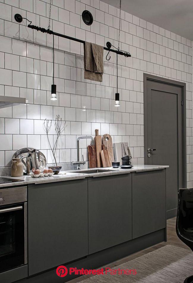 Industrial loft with beige details - COCO LAPINE DESIGN | Home decor kitchen, Modern kitchen design, Kitchen design