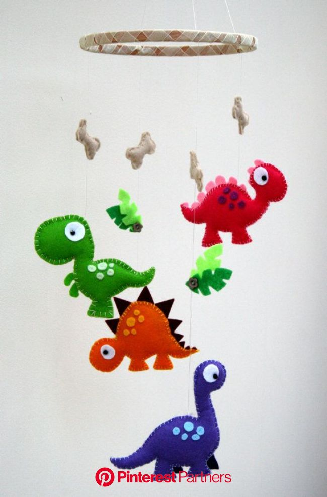 Dinosaur Felt Mobile  Baby mobile  Childrens mobile  | Etsy | Baby crafts, Felt crafts, Felt toys