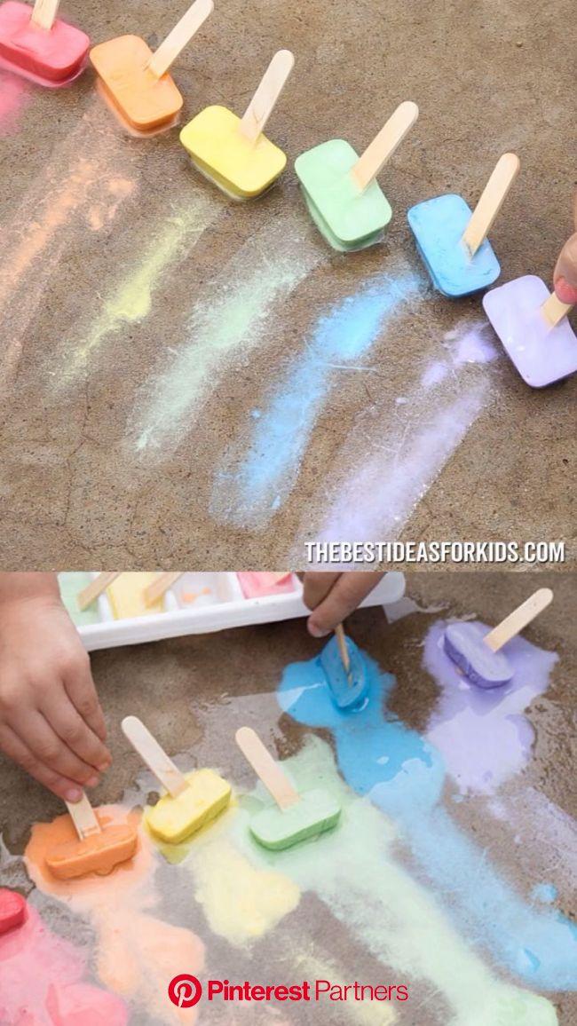 Chalk Ice - The Best Ideas for Kids [Video] [Video] | Fun summer activities, Preschool crafts, Activities for kids