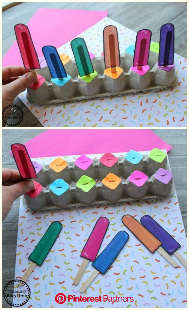 This is good for younger students because it doesn't involve numbers. In class we learned that one… | Toddler learning activities, Preschool colo