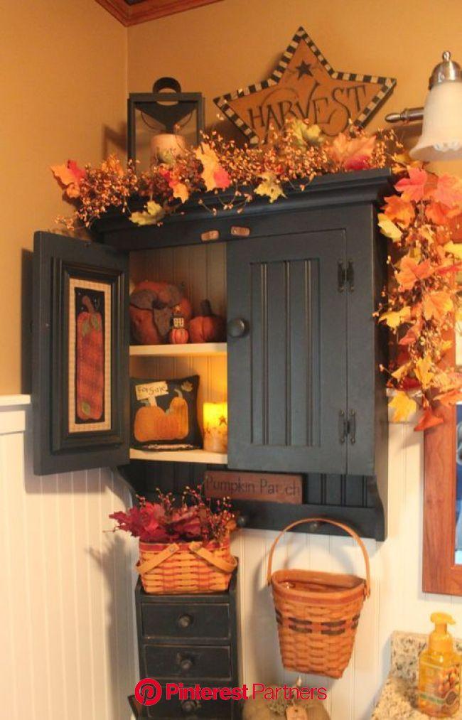 My Yellow Farmhouse | Fall bathroom decor, Fall bathroom, Fall home decor