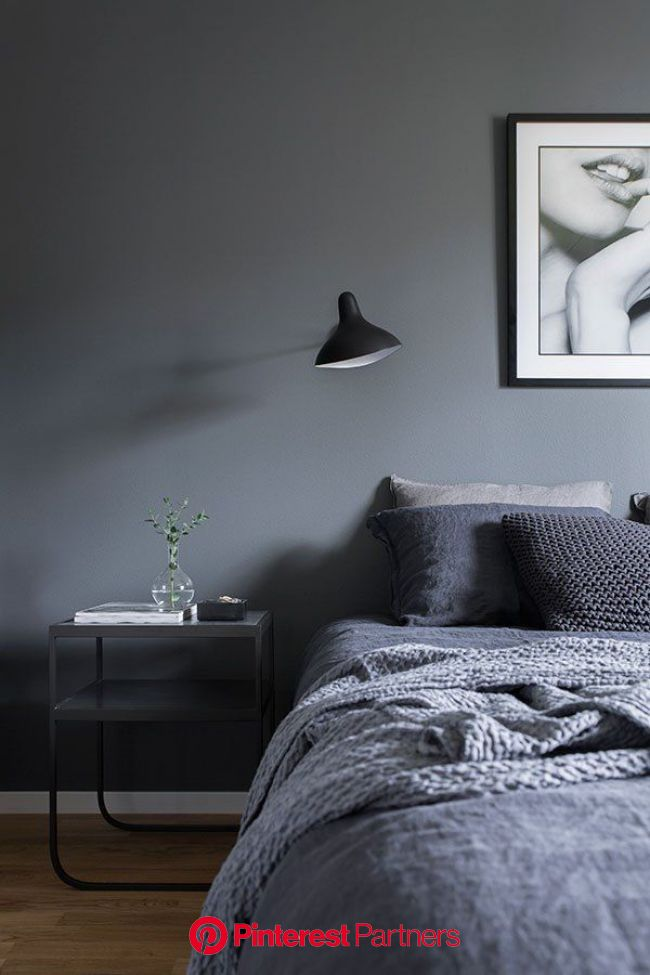 Home Tour: the inspiration for the perfect grey interior paint from a beautiful Scandinavian int… | Elegant bedroom, Scandinavian design bedroom, Home