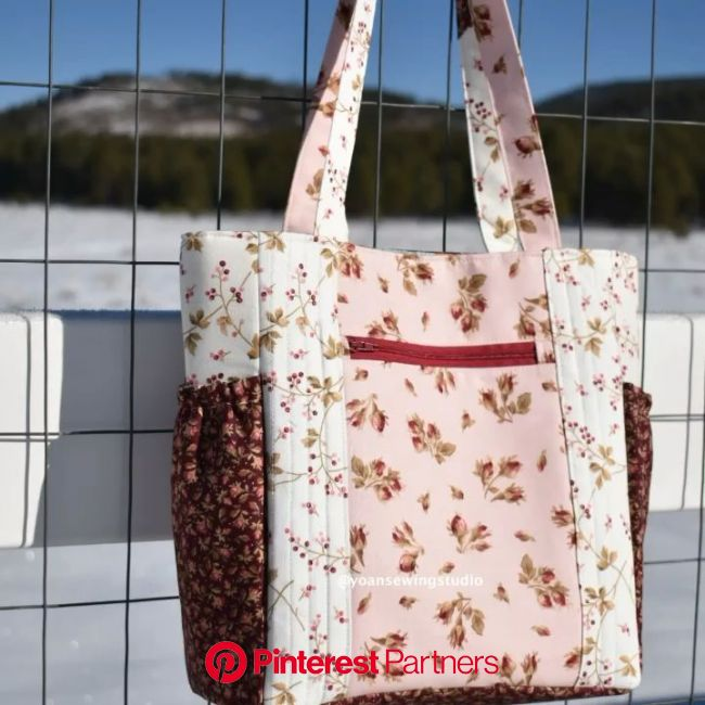 This tote bag comes with a zippered pocket divider, two side gathered pockets, a front external zippered pocket and many more! #s… [Video] in 2020 | T