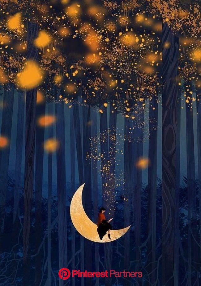 Kleopatra Aggelidi on Twitter in 2021 | Moon art, Whimsical art, Beautiful art