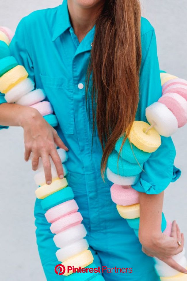 DIY Candy Necklace Costume (+ Sweet Tooth Couples Costume) - Studio DIY | Candy themed party, Candy land birthday party, Diy candy