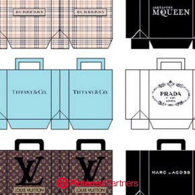 Printable mini designer shopping bags! Only $1.00 at Tinyfrockshop.com #dollcollector #dollstylist #designer #shopping #shoppinhonline #barbiestyle #i