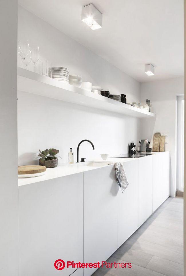 White & minimal | Keukens, Minimalistische keuken, Keuken ontwerp